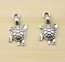 15/30/50 pcs wholesale:Very cute Tibet silver Lucky the tortoise Charm pendant