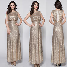 New Long sequin Formal evening cocktail party ball Bridesmaids Prom Dresses 8-16