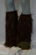 Chocolate Brown Fluffy Legwarmers Rave Wear Accessories