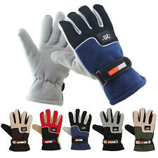 Mens Winter Warm Full Finger Riding Motorcycle Ski Snow Snowboard Gloves Mitts