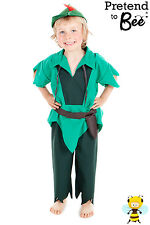 KIDS BOYS CHILDRENS CHILDS ROBIN HOOD FANCY DRESS UP COSTUME OUTFIT AGE 3-5-7-9