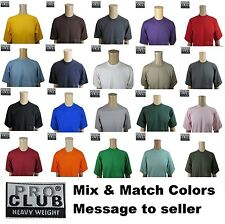 PROCLUB LARGE HEAVYWEIGHT T SHIRTS Mens Crewneck Short Sleeves Wholesale 6 PACK