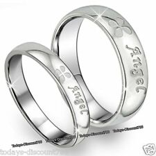 Angel Rings Engraved Promise Valentine l Gifts For Her Him Wife Couple Men Women
