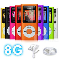 """1.8"""" LCD MP3 MP4 Player Music Media FM Radio Video 4th Earphone Cable 8GB"""