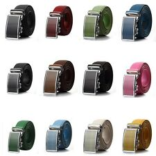 New Fashional Automatic Buckle Mens Waistband Genuine Leather Belts Waist Strap
