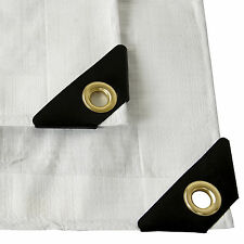 12 mil Heavy Duty Canopy Tarp WHITE Tent Car Boat Cover -Choose Size 20% OFF 3+