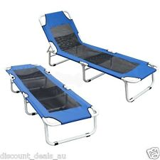 Folding Deck Pool Camping Chair Bed Recliner Lounge Beach Garden Poolside Patio