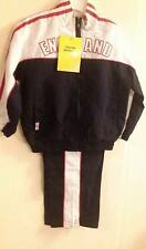 KIDS TRACKSUIT BOYS GIRLS ENGLAND TRACK BOTTOMS & ZIP TOP BNWT 3-4 OR 4-5 YEARS
