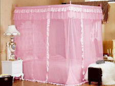 Bed Canopy 4 Posters Princess Mosquito Net Cal Twin-XL Bed Size King Full Queen