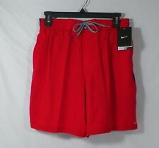 NIKE DRI-FIT  MENS SWIM SUIT SHORTS TRUNKS RED SIZE S OR L -SU18879-NWT