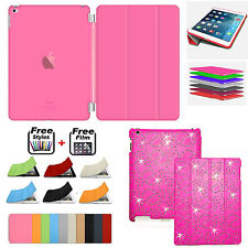 APPLE iPad MINI 2 3 4  BLING Smart Magnetic Leather Case+Hard Back Case Cover