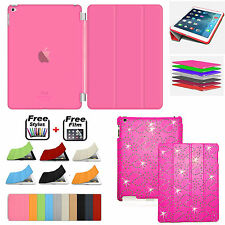 Smart BLING Magnetic Leather Case+Hard Back Case Cover FOR APPLE iPad MINI 2 3 4