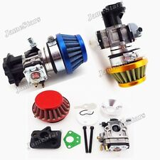 15mm Carburetor Air Filter Stack Inake For 33cc 43cc 49cc Goped EVO Gas Scooter