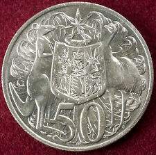 Australia 0.800 Silver 50 Cents 1966 (UNC or Circulated)