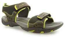 Clarks AIR TIDE Grey Leather Active Air Boys Sandals Shoes 10 - 2 Jun G Widths