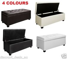 Large Storage Ottoman PU Leather Chest Home Décor Organiser Foot Rest Bench Seat