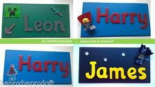 Kids PERSONALISED Door Wall Boys NAME PLAQUES Signs Handmade Fun Gifts Christmas