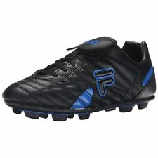 Fila FORZA III RB Mens Black Prince Blue laced Athletic Outdoor Soccer Cleats