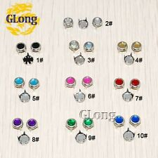 Clawed Rhinestone Round Plane Studs DIY Rivet Nailheads Spike Cloth Accessories