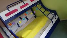 Single Bunk bed with double bed in EC ( very solid).