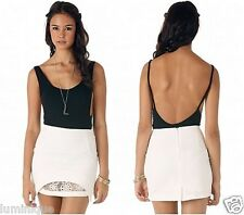$39 **LUCY IN THE SKY** White Chiffon Lace Skirt 6 XS 8 S Office Work Party Club