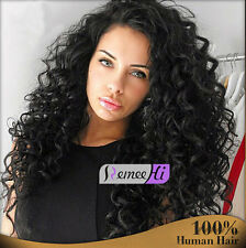 natural charm curly full/front lace wig 100% remy human hair baby hairs around