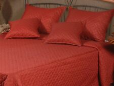 Tache Simple Festive Holiday Orange Red Christmas Bauble Bedspread Quilt
