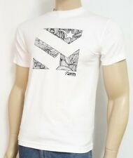 Form Athletics Etched Double Logo White 100% Cotton T-Shirt New NWT Mens Small