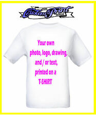 PERSONALISED Custom Printed TSHIRT any photo picture logo text T shirt gift tee