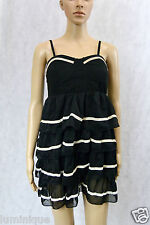 **ICE* NEW Tiered Chiffon Bustier Dress Sweetheart Empire Waist XS 8 M 10 1 L 14