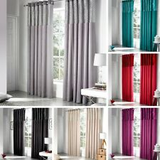 Savoy Fully Lined Ringtop Eyelet Curtain Faux Silk Teal In Various Sizes
