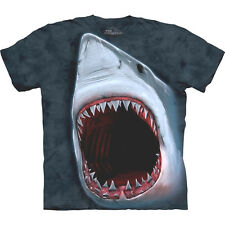 SHARK BITE T-SHIRT MADE  BY THE MOUNTAIN CO. ADULT SIZE M  XL  2XL  3XL