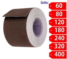 """2"""" Wide Emery Cloth 25ft Roll, Emery Roll, Cloth Back- Choose Your Grit"""