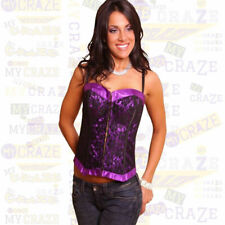 Lovely Day Lingerie Sexy Womens Lace Overlay Bustier Corset Set B1197