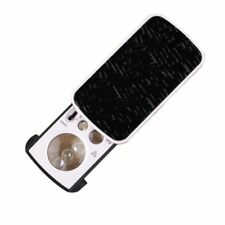 30x25mm 60x12mm 90x8mm Currency Jewelry Appraisal Loupe 3 Lens UV LED Magnifier
