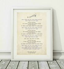 134 The Beatles - Here Comes The Sun - Song Lyric Art Poster Print - Sizes A4 A3