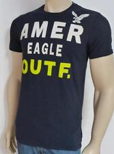 American Eagle Outfitters AEO Big Logo Mens Dark Navy Blue T-Shirt New NWT