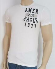 American Eagle Outfitters AEO AE 701 Flocked Mens White T-Shirt New NWT