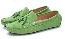 Mens slip on driving loafer  flat casual stylish tassel suede shoes gommino new