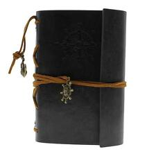 Brand New Retro Classic Vintage Leather Bound Blank Pages Journal Diary Notebook