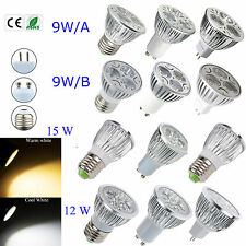 10PCS Cree / Epistar LED Bulb 9W 12W 15W MR16 E27 GU10 Lamp Globe White Light
