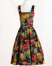 40's 50's clothes print vintage floral dress robe party prom girl swing dresses