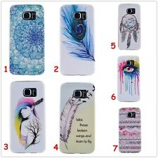 Feather Totem Slim TPU Soft Gel Back Cover Case Fr iPhone Samsung Sony LG Huawei