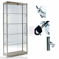 Professional High Class Aluminum & Glass Tower Display Cabinet Shop Home Storage