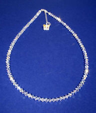 .925 Sterling Silver Necklace Crystals AB Butterfly MADE WITH SWAROVSKI ELEMENTS