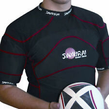 Samurai Contour Elite rugby shoulder pads Black Red All sizes available