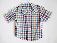 Baby Gap Boys Plaid Button Front Shirt Blue Red Sizes 12-18 Months 3T 5T