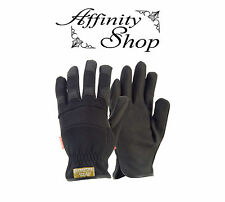 5 Contego Black Rigger Synthetic Leather Work Gloves P8175 Fast Fit Glove Design