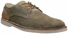 Clarks Mens Hinton Fly Khaki Suede Casual Oxford Shoes 26107213
