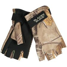 Glacier Glove Fingerless Realtree Camo Hunting Gloves - Neoprene / Fleece Choose